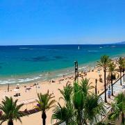 Panorama della spiaggia di Salou in Costa Dorada